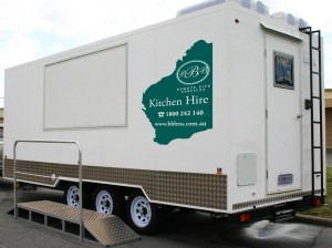 Off-Road Mobile Kitchen Outside